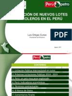 Promocion de Nuevos Lotes Petroleros en El Perú 2014
