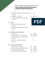 Contoh Anggaran Dana Seminar