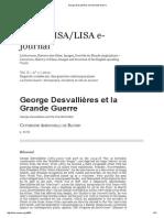 George Desvallières Et La Grande Guerre