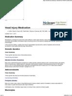 Head Injury Medication