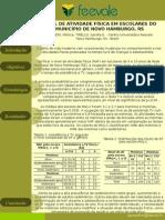 NÍVEL DE ATIVIDADE FÍSICA EM ESCOLARES DO MUNICÍPIO DE NOVO HAMBURGO, RS