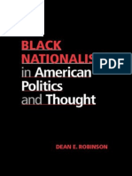191011633 Black Nationalism in American Politics and Thought Robinson Dean E