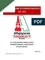 2do Informe de Gobierno Alfajayucan