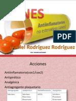 AINEs mecanismo de accion y medicamentos mas comunes con precios , farmacocinetica , indicaciones terapeuticas