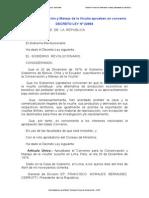 Decreto Ley N 22984 Convenio Para La Conservacion y Manejo de La Vicuña