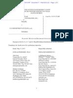 Defense Distributed v. U.S. Department of State Pltfs Mot for PI