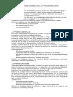 Forme de Organizare a Activitatii Didicatice