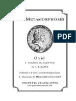 Metamorphoses, The - Ovid and a. S. Kline
