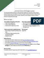 Creating Kk Budget Journals