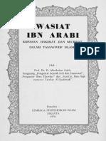 Wasiat Ibnu Arabi (Kupasan)