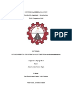 Informe de Topografia- Nivelacion Geometrica