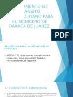 Reglamento de Transito de oaxaca mexico