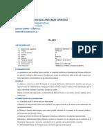Silabus de Derecho Administrativo I