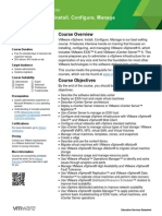 EDU DATASHEET VSphereInstallConfigureManage V6