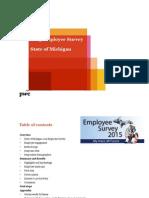 Michigan 2015 State Employee Survey