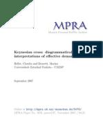 Keynesian Cross Diagrammatical Interpretations of Effective Demand