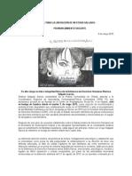 FLNS Pronunciamiento NESTORA EN HUELGA DE HAMBRE 9 de mayo 2015.docx