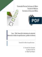 Presentación Tabla de Especificaciones