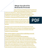7 Stages or Steps Involved in Marketing Research Process