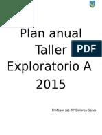 Plan Anual Taller Exploratorio