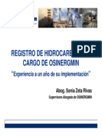 3 Registro de Hidrocarburos a Cargo de OSINERGMIN - Experiencia a Un Ano de Su Implementacion