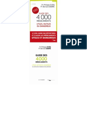 Médicaments Guide Des Dangereux 4000 Ou UtilesInutiles HDIE92