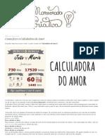 Como Fazer a Calculadora Do Amor _ Namorada Criativa - Por Chaiene Morais