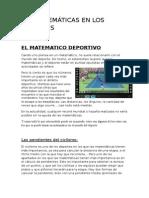 Las Matemáticas en Los Deportes 2