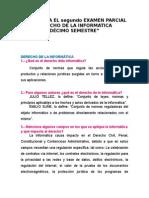 CUESTIONARIO DE DERECHO DE LA INFORMÁTICA