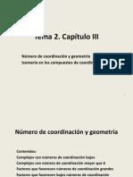 Tema 2. Capitulo III Numero de Coordinacion y Geometria 2014