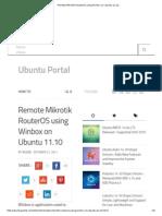 Remote Mikrotik RouterOS Using Winbox on Ubuntu 11