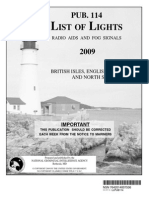 Pub. 114 List of Lights British Isles, English Channel, And North Sea 2009