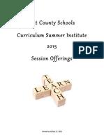 CSI 2015 Program
