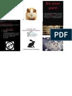 animal testing brochure