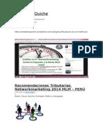 Recomendaciones Tributarias Networkmarketing 2014 MLM