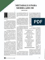 Modelado en 3D metaballs