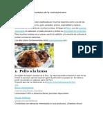 Diez Platos Fundamentales de La Cocina Peruana