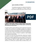 Cisneros re-inaugura estudios en Miami. Prensario Internacional.