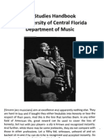 Jazz Studies Handbook