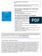 Total Quality Management _ Business Excellence Volume 16 Issue 7 2005 [Doi 10.1080_14783360500077369] Chen, Chi-kuang; Yu, Chang-hsi; Chang, Hsiu-chen -- An Empirical Analysis of Customer-Oriented s