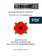 Remembrance Sunday 2011
