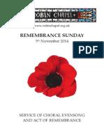 Remembrance Sunday 2014