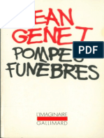 Jean Genet Pompes Funèbres 1953