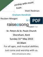 Raise a Song Poster