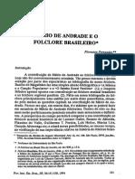 Mário de Andrade e o Folclore