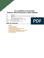 Ciudadanía y Política en Las Escuelas