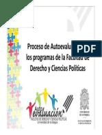 Presentación del proceso de Autoevaluación de la Facultad