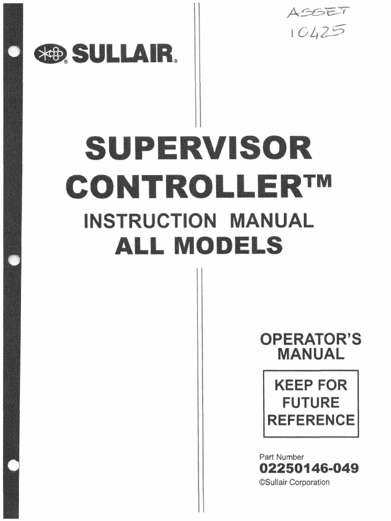 sullair supervisor controller manual 02250146 049 fuse rh scribd com Sullair 185 Manual PDF Sullair 185 Parts