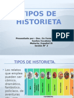 Tipos de Historieta.