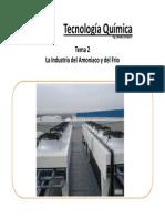 Tema 2 La Industria Del Amoniaco y Del Frio